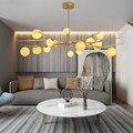 Modern LED chandeliers lighting Nordic deco luminaires Glass Ball fixture living room hanging lights bedroom suspended lamps|Chandeliers| |  -