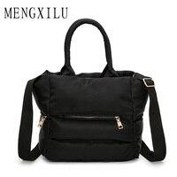 MENGXILU Autumn And Winter Moldbaby New Cotton Padded Jacket Handbag Fashion Leisure Shoulder Cotton Bags Ladies