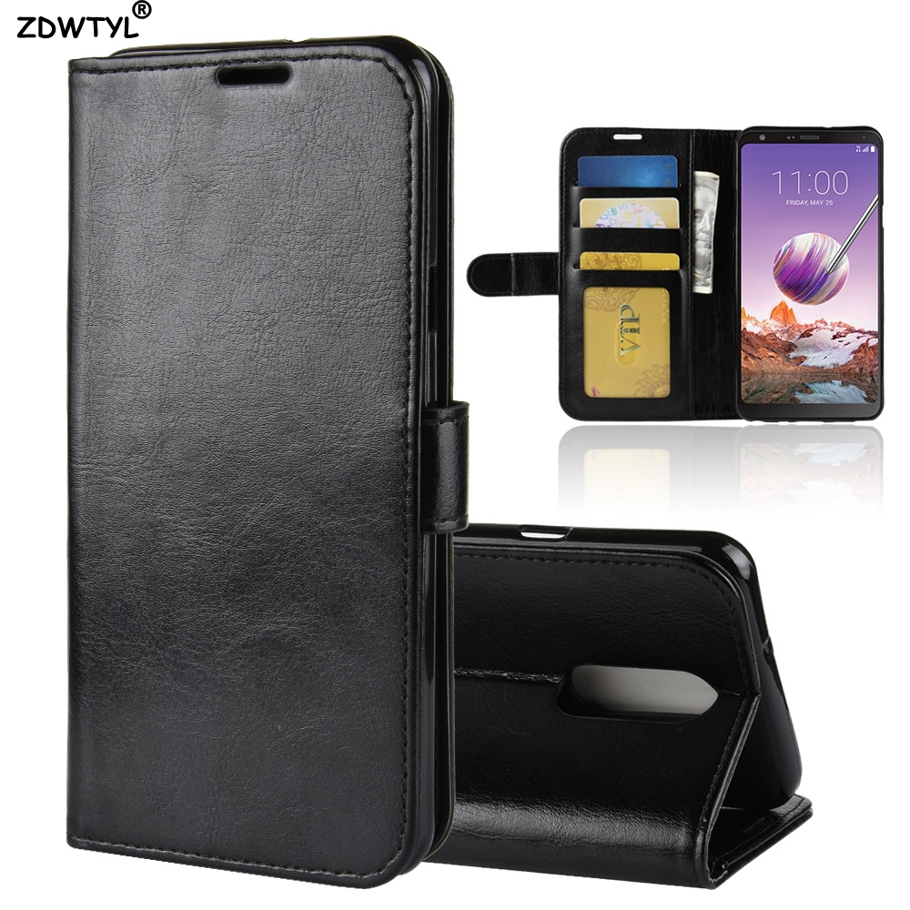 For LG STYLO 4 Case LG Q STYLO 4 Case Flip 6.2 Cover PU Leather Phone