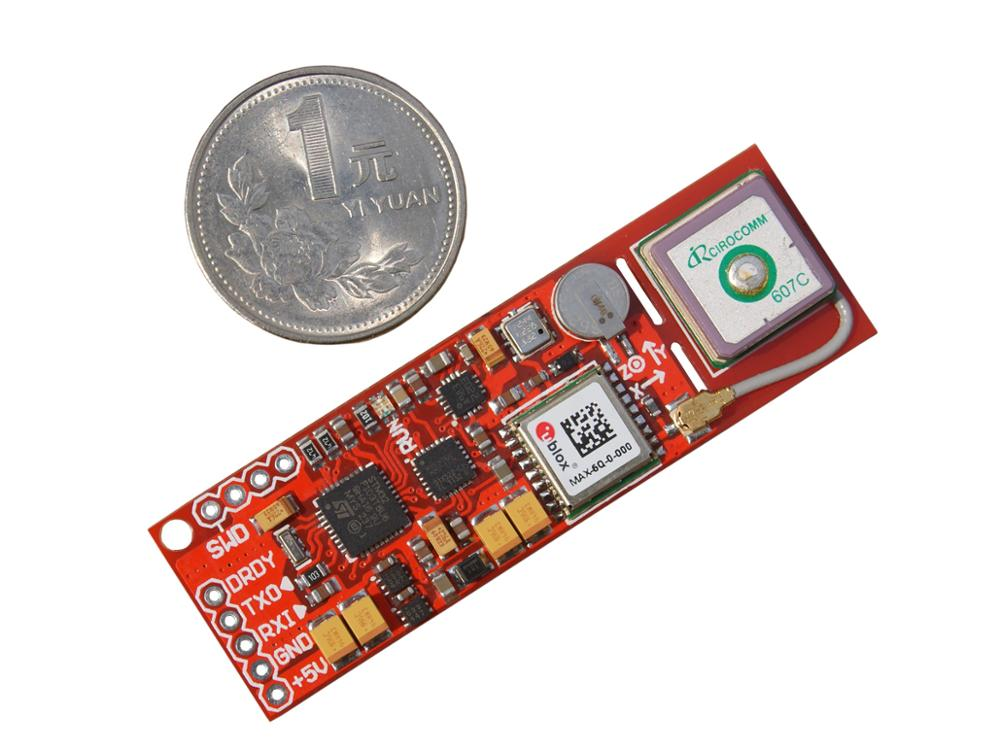 Mini INS/GPS inertial navigation AHRS+ublox-MAX-6Q built in GPS antenna +STM32 master uart ttl level gps module arduino ublox 7020 neo 7m c gnss chip gps module antenna promotional built in flash high quality page 3