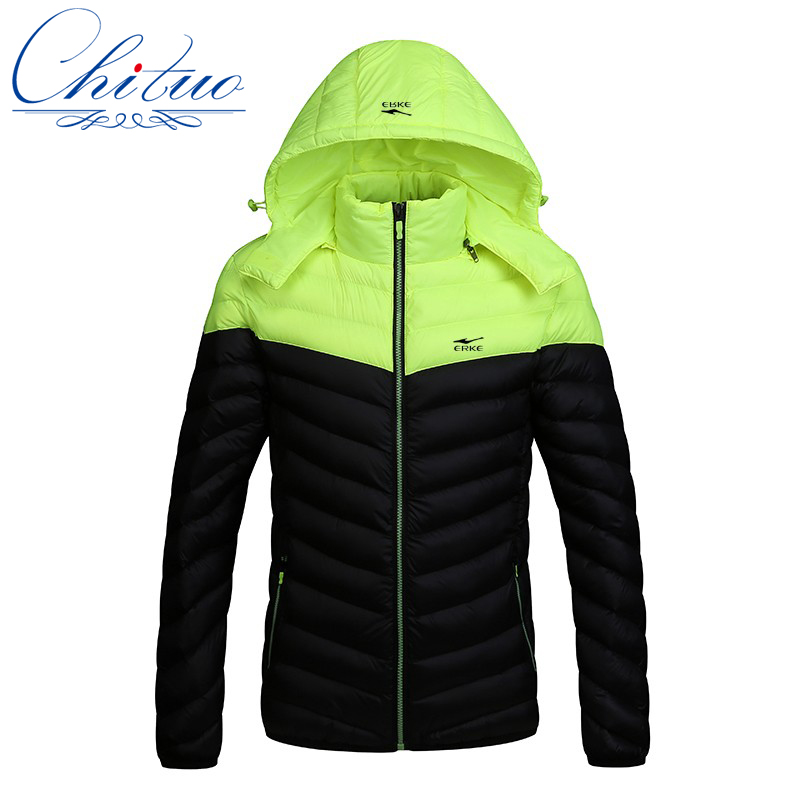 2016 sonbahar kış yeni aşağı ceket erkekler İnce Kapşonlu aşağı ceket erkekler rahat aşağı Sıcak ceket ceket Boyutu M-4XL