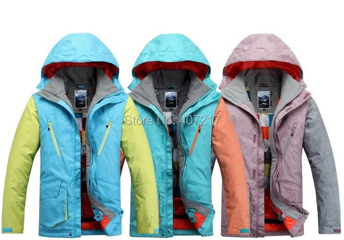 Gsou snow 2015 new arrival mens ski jacket male snowboarding jacket assorted colors skiing coat anorak waterproof 10K super warm парафин oneball 4wd warm assorted