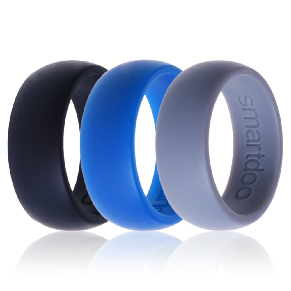 b2action mens silicone wedding band 4 color Pack Silicone Wedding Rings