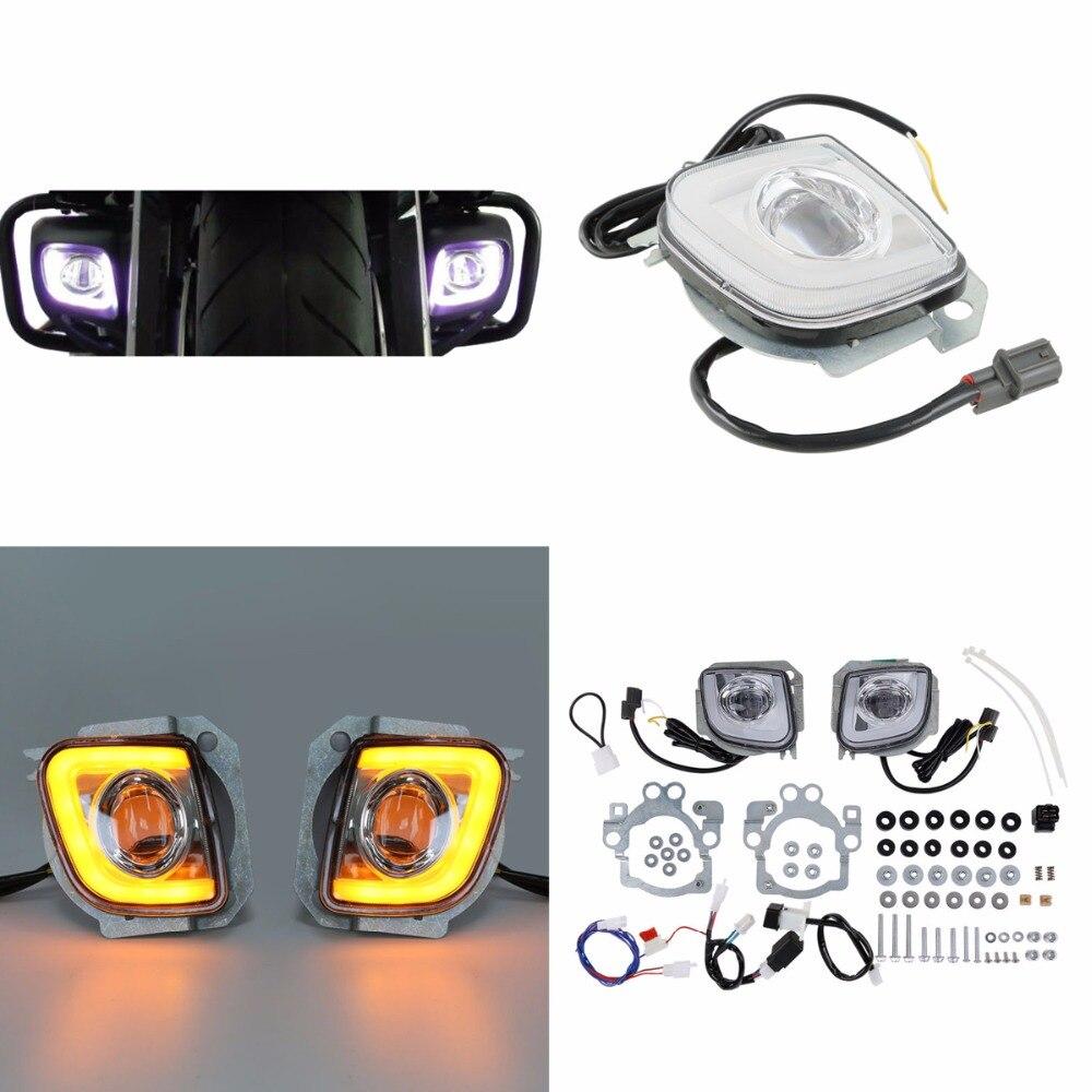 Мотоцикл светодиодный поворотов Вождение туман свет для Honda Goldwing GL1800 12-17 F6B Валькирия GL18RFL 2012- 2016 13 14 15