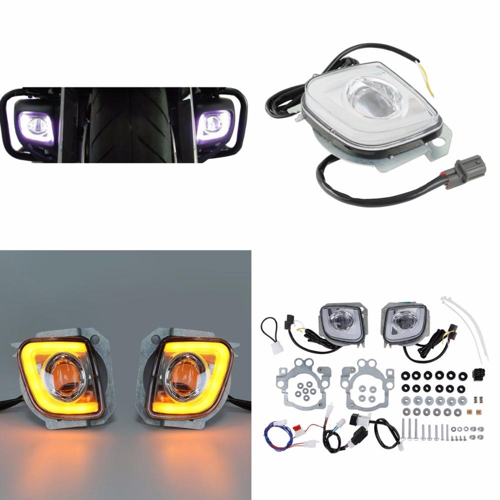 Motorcycle Motorbike LED Turn Signal Driving Fog Light For Honda Goldwing GL1800 12 17 F6B Valkyrie GL18RFL 2012 2016 13 14 15