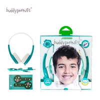 New ONANOFF BuddyPhones Explore Children Kids Wired Headsets Safety Volume Limiting Headphones With Mic Study Listening