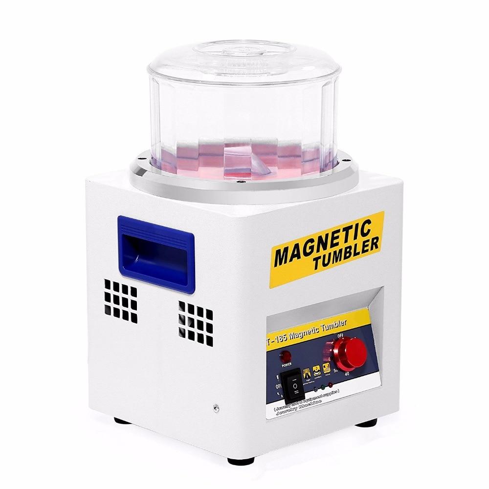 Электрический магнитный шлифовальный станок для очистки полировки KT-185 магнитное оборудование для снятия заусенцев, ювелирный Магнитный ш...