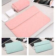 PU Laptop Sleeve Bag For Xiaomi Macbook Pro 13 Case Air 11 12 Retina 2018 New 15 Touch Bar Matte Magnetic Buckle Women Men Cover