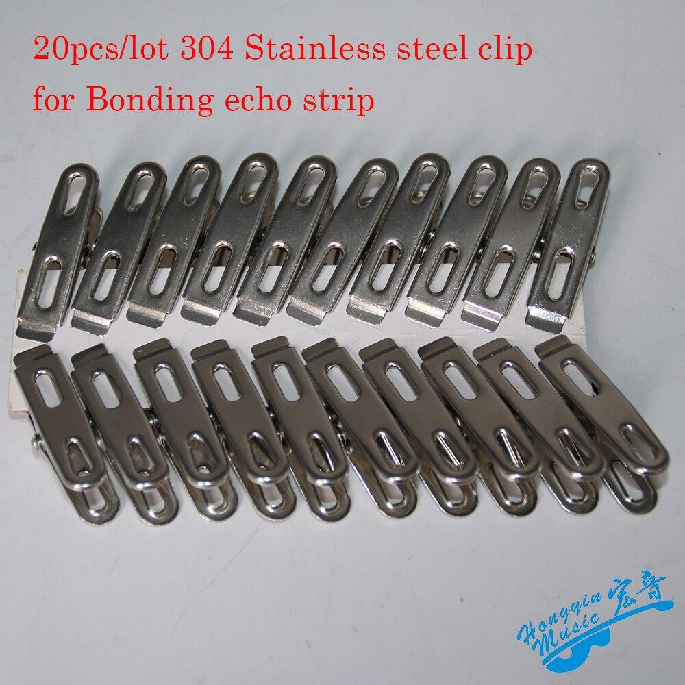 buy 20pcs lot stainless steel clip for bonding echo strip guitar making tool. Black Bedroom Furniture Sets. Home Design Ideas