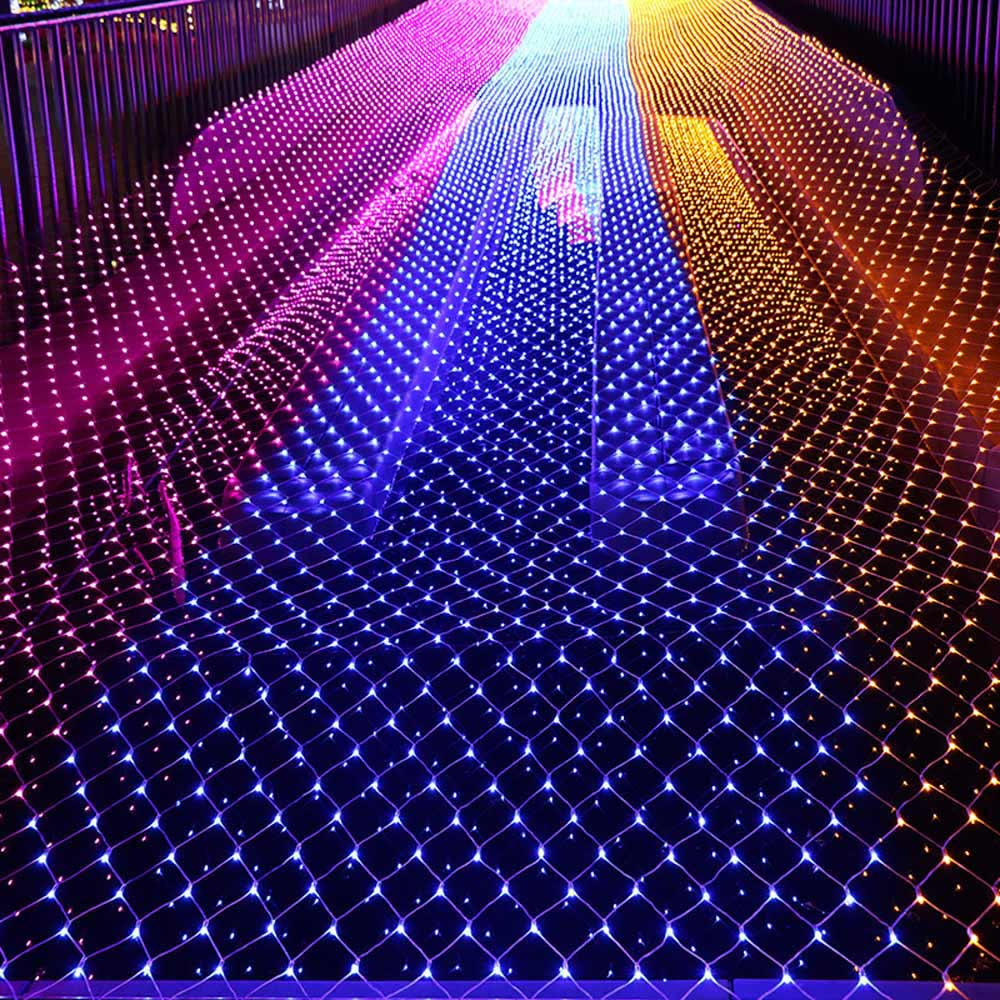 Lights Mesh Christmas Fairy Lights Decoration Outdoor LED Net Light Garden Decorative Waterproof 220V 110V Wedding Party Holiday