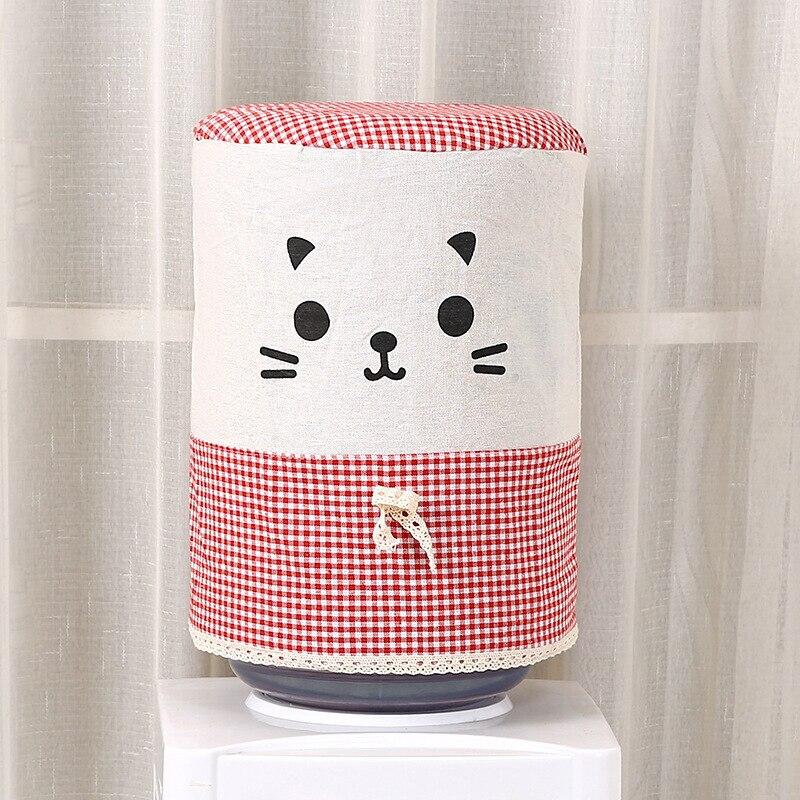 Offen 1 Pc Baumwolle Leinen Wasser Dispenser Staub-proof Abdeckung Falten Cartoon Katze Tuch Trinken Brunnen Staub Abdeckung Hause Haushalt Liefert
