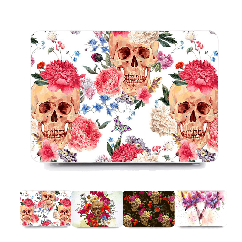 Skeleton Halloween Gift Hard Laptop Case for MacBook Air Pro Retina 11 12 13 15 Inch Case for Macbook A1707 A1706 A1708 Case matte glitter bling case for apple macbook air pro retina 11 12 13 15 with touch bar 2017 a1706 a1707 a1708 for macbook 11 case