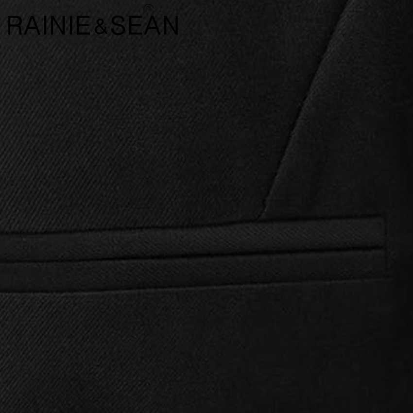 RAINIE SEAN Black Yelek Kadın Kısa Ofis Bayan Yelek Kadın İlkbahar Yaz Takım Elbise Yelek Kadınlar Için Artı Boyutu 3XL Kolsuz ceket