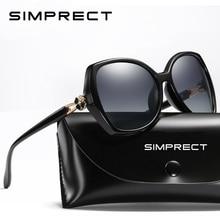 SIMPRECT מקוטב משקפי שמש נשים 2020 משקפי שמש גדולים רטרו כיכר שמש משקפיים יוקרה מותג מעצב גוונים לנשים