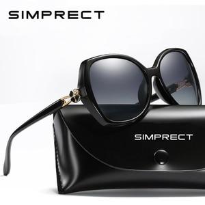 Image 1 - SIMPRECT Polarized Sunglasses Women 2020 Oversized Sunglasses Retro Square Sun Glasses Luxury Brand Designer Shades For Women