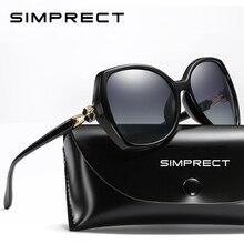 Солнечные очки SIMPRECT поляризационные женские, солнцезащитные аксессуары большого размера в ретро стиле, квадратные, роскошные брендовые дизайнерские, с защитой от ультрафиолета, 2020