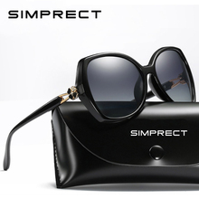 Simprect 偏光サングラスの女性 2020 特大のサングラスレトロ正方形サングラス高級ブランドデザイナーのための