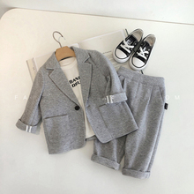 Baby Boy Clothes Set Boy Blazer Set Causal Tuxedo Suits Jackets + Pants Two piece set Formal Suit for Wedding Christmas Costumes недорого