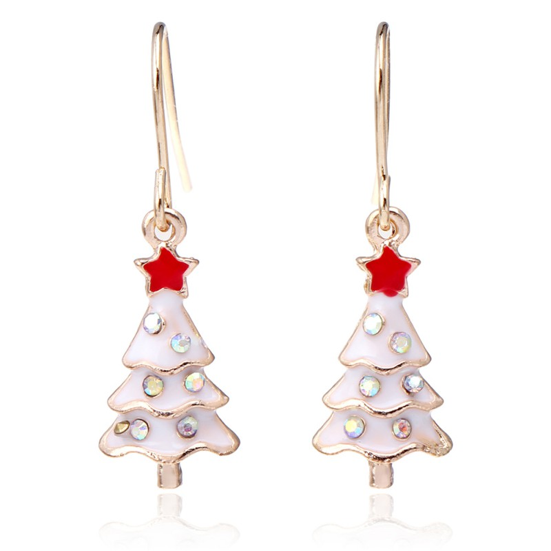 Hot Women Sweet Earrings Christmas Hollow Snowflake Bell Sleigh Christmas Tree Earrings For Women Gift 2018 Furniture