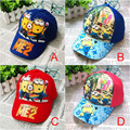 2016 new design cotton children cartoon spring summer hat for girls boys fashion baseball caps for kids snapback