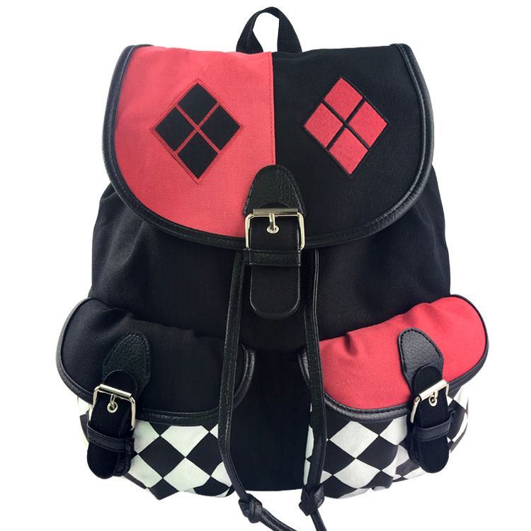Suicide Squad Harley Quinn Backpack Mochila Cosplay Knapsack School Bag Joker Children Boys Girls Casual Schoolbag аксессуары для косплея cos crystal shoes harley quinn cosplay