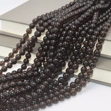 Natural Lighter Dark Material Brazil Morion Quartz Loose Round Beads 8mm(China)
