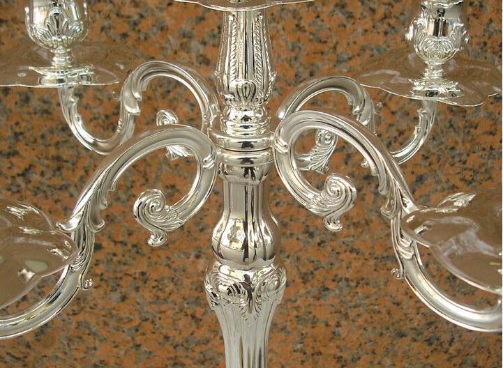 H65cm ouro / siver castiçais candelabros de 5 braços candelabros de - Decoração de casa - Foto 4