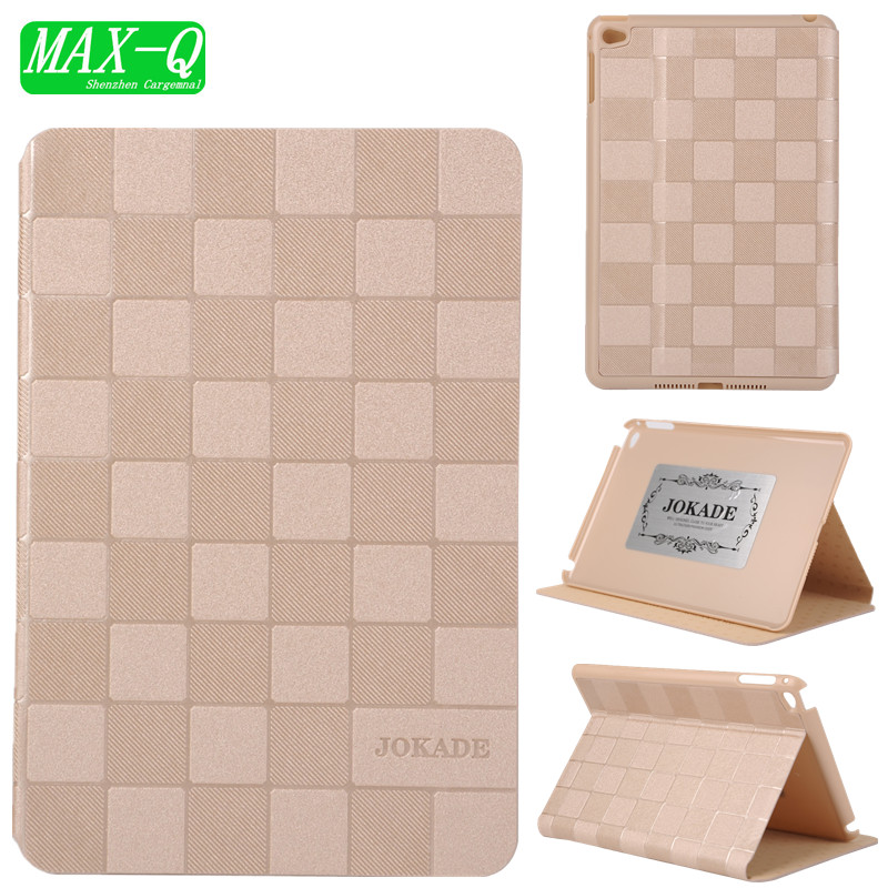 HOT! high quality Luxury PC case for Apple ipad 6 PU leather Cover for ipad air 2 Smart stand cases wake up/sleep Air 2 Case