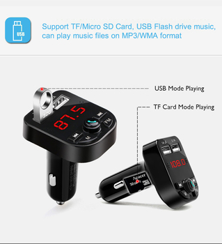 3.1A Bluetooth Car Kit Handsfree Wireless Bluetooth 5.0 FM Transmitter LCD MP3 Player USB Charger Car Accessories Hands free 5