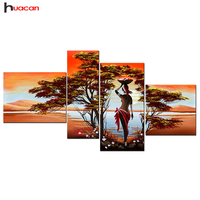 5D Diamond Painting Africa Landscape Multi Pictures Rhinestone Pasted Diamond Cross Stitch Diamond Embroidery Art Crafts