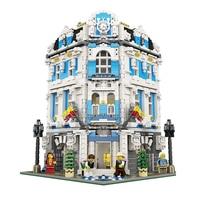 15018 3196pcs Creator City Series Sunshine Hotel MOC Model Building Kits Brick Toy Compatible Christmas Gifts