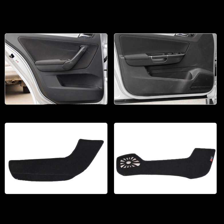 4 pièces de Porte De Tissu De Tapis de Protection Anti-kick Décoratif Tampons Pour Volkswagen Bora 2013-2014