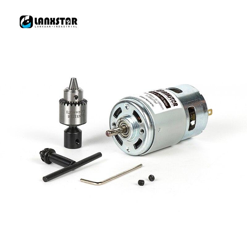 12-36V Mini Hand Drill DIY Lathe Press 555 Motor With JTO Chuck+Chuck Wrench