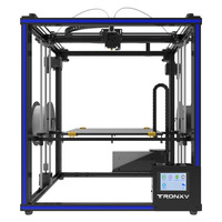 2018 Newest Tronxy DIY 3D Printer X5ST 2E Mixed color Double Feeding port 3d printer machine metal with hotbed free shipping