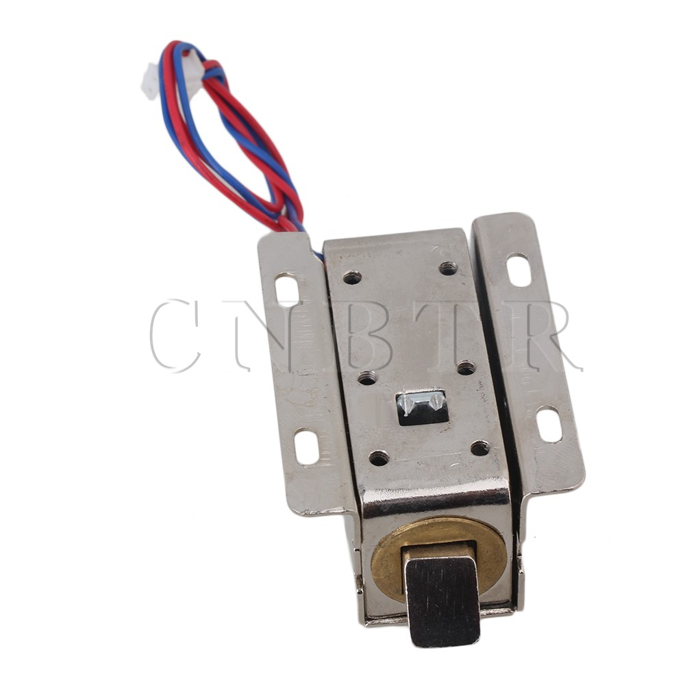 CNBTR 12V Electric Lock Assembly Solenoid for Door Drawer Lock Tongue Down 12v dc cabinet door drawer electric lock assembly solenoid lock 27x29x18mm