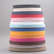 10 metro/lote 1.5cm multi cor fitas de fita de espinha de peixe tecido algodão costura overlock pano correia diy acessórios lx329