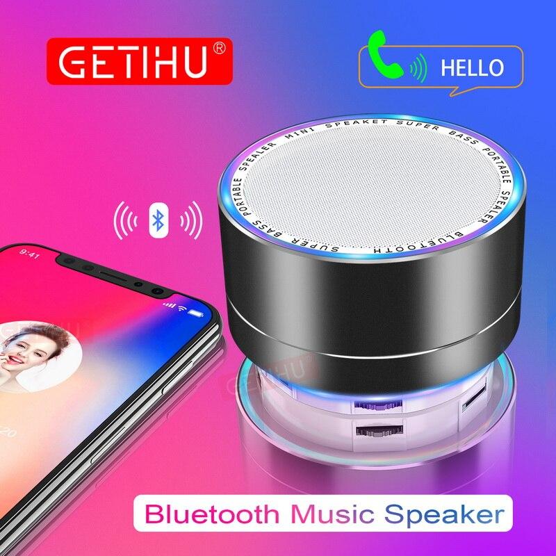 Getihu LED Музыка Портативный Bluetooth Динамик мини Беспроводной USB Колонки fm tf-плеер Радио звука Колонка для Xiaomi ПК мобильный телефон