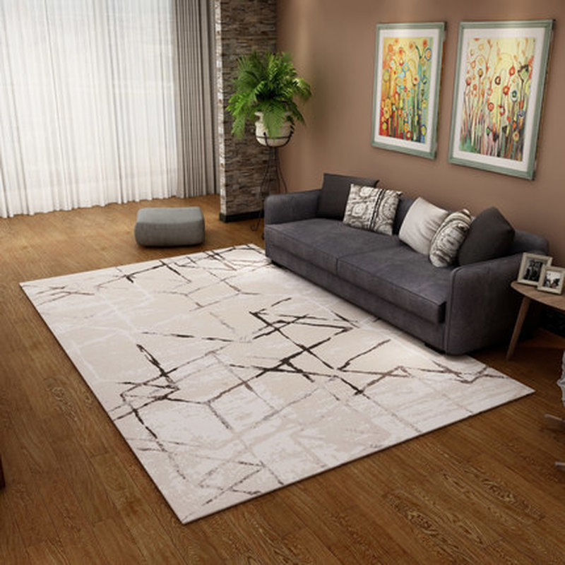 Moderne abstrait Art court en peluche tissu tapis Pad haute qualité élastique anti-dérapant tapis en plein air prière salon maison tapis de sol