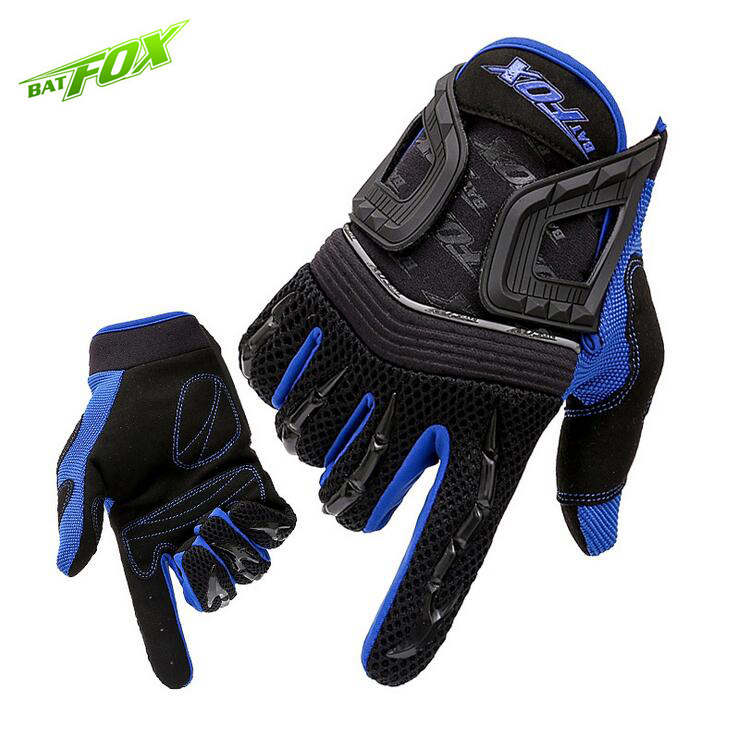 BATFOX Men Cycling Gloves Full Finger Lycra Bicycle Gloves Outdoor Sports Touch Screen Anti-Shock Bike Motorcycle Gloves