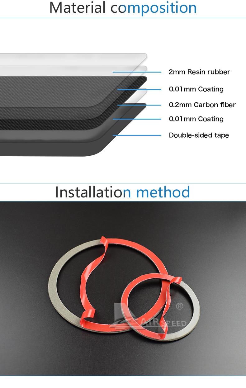 Airspeed for BMW F25 X3 X4 F26 X4 BMW F26 F07 Sticker for BMW X3 F25 Carbon Fiber Interior Trim Stickers Car Door Speaker Ring (11)