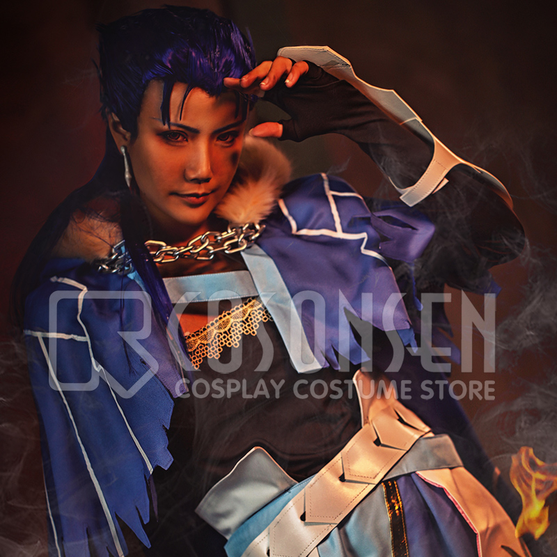 FGO Cu Chulainn Caster Fate Grand Order Stage 3 Cosplay Costume Full Set All Size COSPLAYONSEN