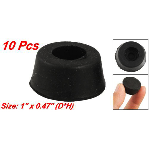 SDFC 10 Pcs 26mm X 12mm Furniture Chair Cone Rubber Feet Pad Cover Bumper Protector