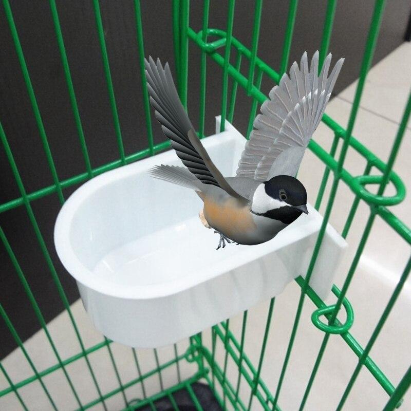 Mangeoire pour oiseaux eau nourriture Cage en plastique nourriture/eau fournitures Mini perroquet boire bol d'alimentation