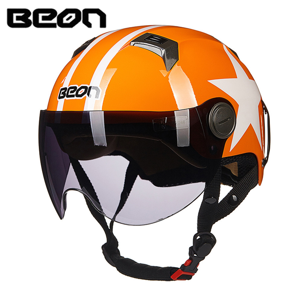 BEON Scooter Motorcycle Half Helmet Face Vintage Helmet Moto Casque Casco motocicleta Capacete Vespa Summer helmets free shipping beon new fashion motorcycle half face summer moto helmet breathe four seasons authentic harley motorbike capacete