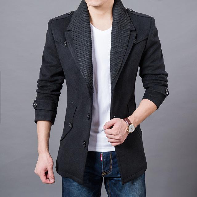 2017 Business Men Casual Warm Coats