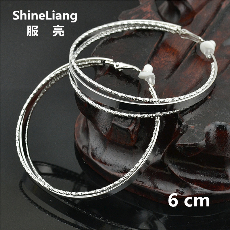 Shineliang 2018 Clip on the ear ring No ear hole Without piercing Earrings for women female Fashion brand gold silver jewelry