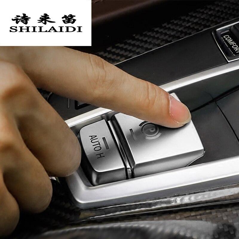 Car Styling AUTO H Button Sticker For BMW 5/6/7 Series X3 X4 X5 X6 Electronic Handbrake F25 F26 F10 F18 F15 Interior Accessories