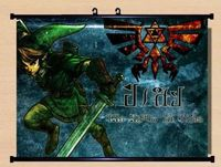 New The Legend of Zelda Fans sky link Wall Scroll anime Home Decor Poster