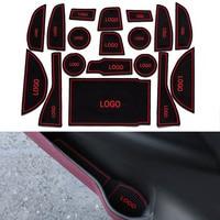 18Pcs Set Car Styling Slot Pad Interior Door Groove Mat Latex Anti Slip Cushion For Lexus