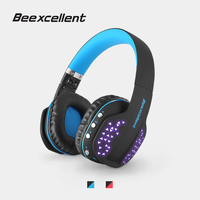 Beexcellent Q2 Foldable Bluetooth Headphones with LED Wireless Stereo Gaming Headset Support Hands free HiFi Headphone for Gamer